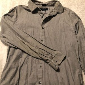American Eagle Men's stripped button up